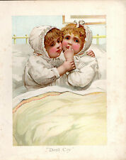 """LATE VICTORIAN (may be Edwardian) COSTUME PORTRAIT- """"DON'T CRY"""" (ORIGIN UNKNOWN)"""