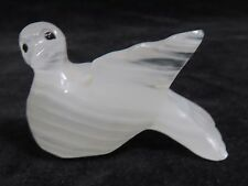 Collectible  White Onyx Stone Dove Handcrafted Figurine