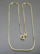 VINTAGE 18ct GOLD BOSTON LINK NECKLACE CHAIN 16 inch 1979