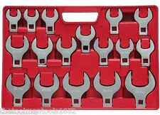 17pc GRIP Metric Jumbo Crow Foot Wrenches Set Crowfoot 20mm - 46mm Open End MM