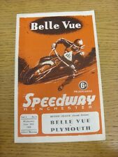 12/06/1968 Speedway Programme: Belle Vue Colts v Plymouth Devils (scores/results