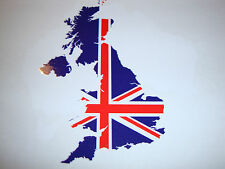 2 GREAT BRITAIN UNITED KINGDOM STICKER MAP FLAG SILHOUETTE CAR WINDOW  DECAL