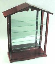 Lenox Garden Birds Wood Display Case Rack 1195765 Cabinet 3 Shelf Glass Hardwood
