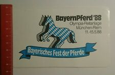 Aufkleber/Sticker: Bayern Pferd 88 Bayerisches Fest der Pferde (220916122)