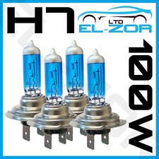 4 X H7 499 / 477 100W XENON SUPER WHITE HEADLIGHT BULBS DIPPED MAIN BEAM 12V HID