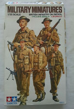 TAMIYA MILITARY MINIATURES BRITISH INFANTRY ON PATROL FIGURES 1/35 SCALE