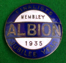 WEST BROMWICH ALBION - 1935  JUBILEE YEAR - WEMBLEY FINALISTS BADGE -RARE  W.B.A