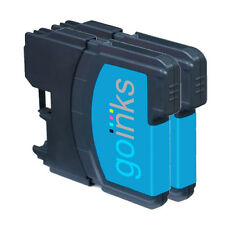 2 Cyan Ink Cartridges for Brother DCP-J125, DCP-J140W, DCP-J315W, DCP-J515W