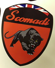 Scomadi Logo Badge Printed Decal Sticker Custom ATOMIC ORANGE FP TL 50 125 200