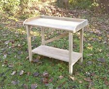 Hand made, Wooden Greenhouse, Garden, Potting Table Staging Bench with trim