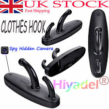 Motion Detection Clothes Hook Hidden Spy Camera Wall Mount Clothes Hanger 720P #