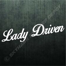 Lady Driven Vinyl Bumper Sticker Decal Sport Chick Woman Driver For Ford Jeep CJ