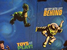 "Disney Toy Story ""No Toy Gets Left Behind"" Flat Sheet Twin Craft Fabric"