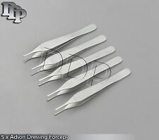 5 x Adson Tissue Dissecting Dressing Forceps Plastic Surgery, Micro Instruments