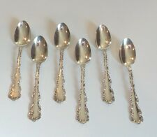 "SET/6 WHITING MFG. CO. ""LOUIS XV"" STERLING SILVER 5 3/4"" TEASPOONS, 120 grams"