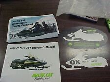 Arctic Cat 1989 El Tigre Owner's Manual, Safety Manual and Sales Tags