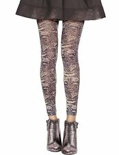 Opaque Snake Print Footless Tights