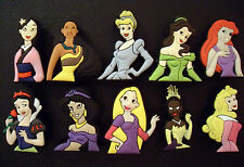 10 x DISNEY PRINCESS CROC SHOE CHARMS FOR CROCS  JIBBITZ WRISTBANDS