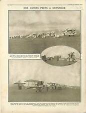Escadrille Avions Chasse Camp d'Aviation SPAD/Fokkers Aviatiks Aircraft 1916 WWI