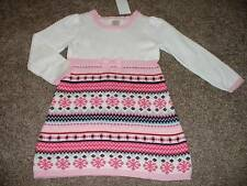 Gymboree Girls Fair Isle Flurry Pink Snowflake Sweater Dress Size 3T 3 NWT NEW