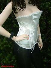 NEW CREAM BONED PEARL CORSAGE BUSTIER CLUBBING PARTY TOP 12