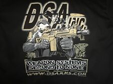 DSA AR15 FAL FIREARM GUN RIFLE SHOOTER TACTICAL BEER BIKER CAR DICKIE WORK SHIRT