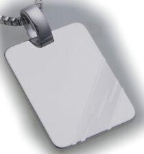 Gravurplatte Rechteck Silber 925 incl. Gravur Sterlingsilber Qualität Unisex