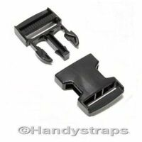 200 x 25 mm Black Plastic Side Release Buckles for webbing Quick Release Buckles