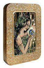 The Green Faerie 12 Blank Note Cards in Keepsake Tin Box by Tree Free Greetings