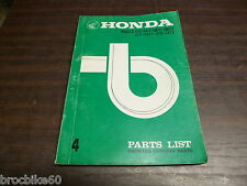 PARTS LIST HONDA C CA 72 77 78 250 350 1972 -  catalogue de pieces détachées