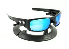 OAKLEY CRANKSHAFT POLISHED JET BLACK FRAME W/ REVANT ICE BLUE POLARIZED LENSES