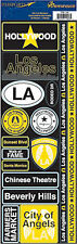 Reminisce Passports-HOLLYWOOD Cardstock Stickers scrapbooking CITY OF ANGELS