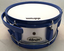 "ddrum DIABLO S2 Side Snare Drum 10""x5"" Silver/Blue Suspension Mount/Clamp 9-ply"