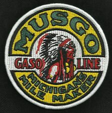 VINTAGE STYLE MUSGO GASOLINE MILE MAKER HOT ROD ROCKABILLY GREASER BIKER PATCH