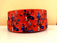 1 METRE SPIDERMAN RIBBON SIZE 1 INCH BOWS HEADBANDS BABY HAIR BIRTHDAY CAKE