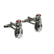 Fly red crystal eyes Insect Cruise Formal Occasion Cufflinks Present Gift Box