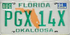 Florida license plate, original matrícula estados unidos pgx 14x imagen original