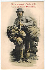 Basket Seller from West Ukraine Region,Russian Types #71,Rare Card, Russia,1900s