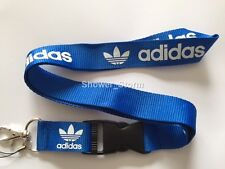 Blue White Adidas Originals Lanyard NEW UK Seller Keyring ID Holder Strap