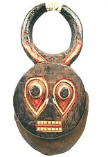 Art Africain Tribal - Authentique Masque Baoulé Goli - Traces d'Erosion - 48 Cms