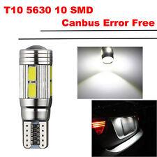 T10 501 W5W 10 SMD Lampadina LED Canbus Error Free luce freddo bianco Wedge Side
