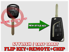 FLIP REMOTE CHIP KEY TRANSMITTER FOB FOR TOYOTA PRADO RAV4 KLUGER AVENSIS TF24