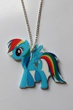 Cartoon style My Little Pony *Rainbow Pegasus Pony* necklace