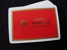 VINTAGE 1970's PACK of PLAYING CARDS - HOTEL TIZIANA - LE FOCETTE - ITALY
