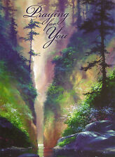 """Greeting Card """" PRAYING FOR YOU """" by James Coleman w/ WATERFALL & FOREST"""