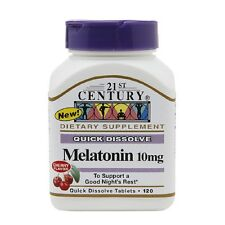 21st Century Quick Dissolve Melatonin 10mg Tablets, Cherry 120 Tablets