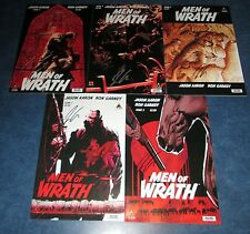 MEN OF WRATH 1 2 3 4 5 all signed 1st print set JASON AARON ICON marvel COMIC NM