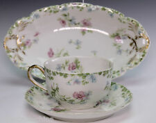 Haviland Limoges Schleiger China Cup Saucer and Relish Dish
