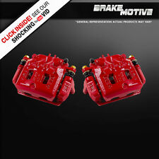 Front Red Powder Coated Brake Caliper Pair Subaru Forester Impreza Legacy