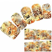 Tattoo Nail Art Bunt Aufkleber Phantasie Muster Colorful Nagel Sticker Neu!